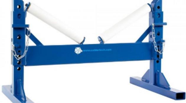 Роликовые опоры для ПЭ труб d 400-710 с регулировкой высоты