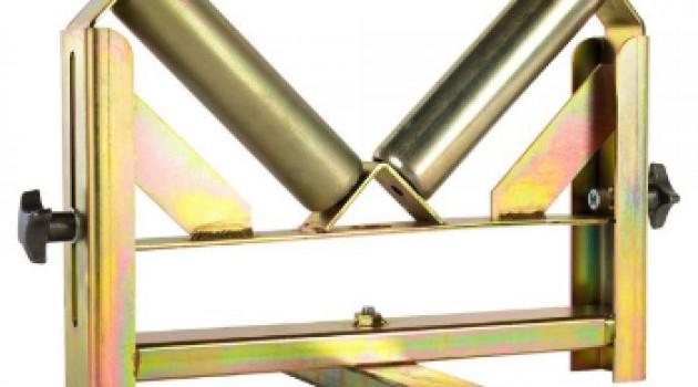 Роликовые опоры для ПЭ труб d 050-355 с регулировкой высоты
